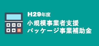 H29小規模事業者支援パッケージ事業への補助金に関する最新情報